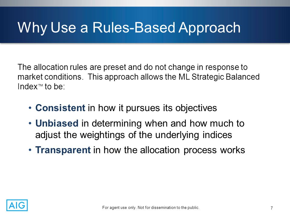 Why Use a Rules-Based Approach