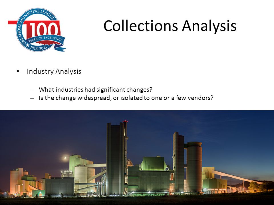 Collections Analysis Industry Analysis