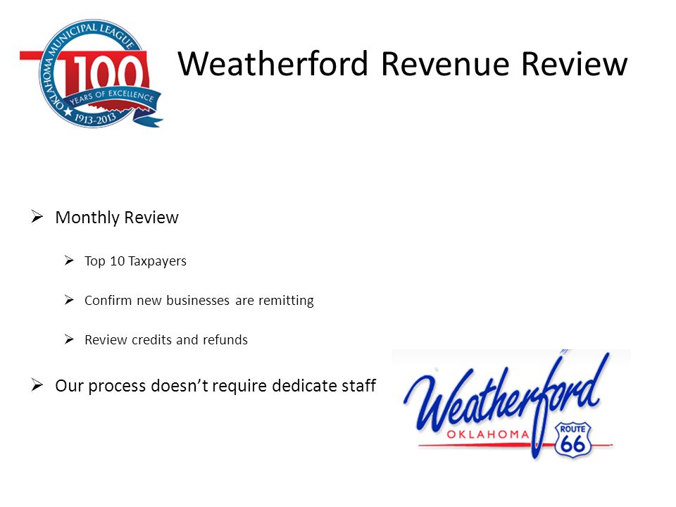 Weatherford Revenue Review