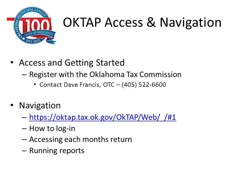 OKTAP Access & Navigation