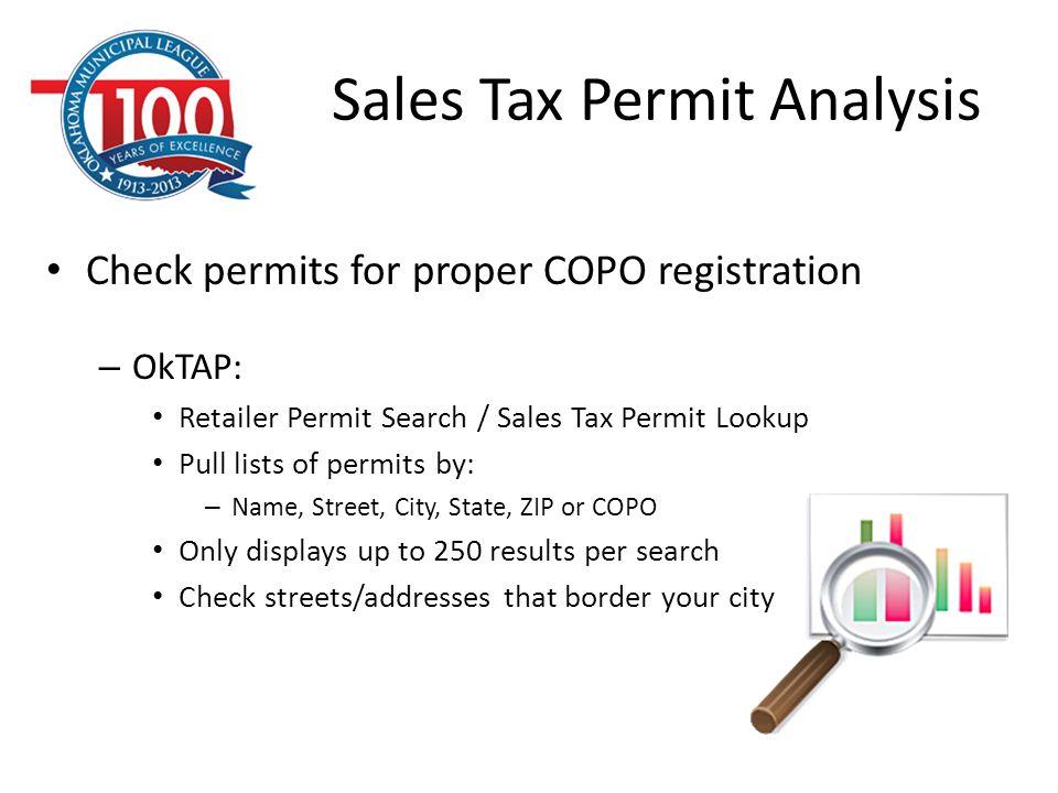 Sales Tax Permit Analysis