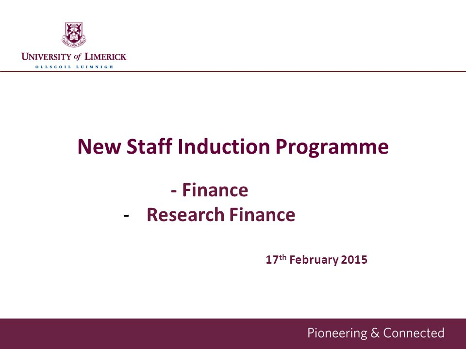 New Staff Induction Programme