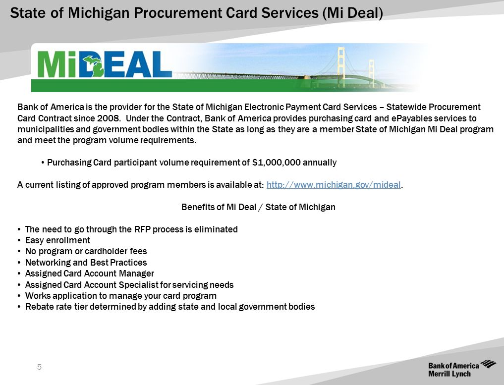Benefits of Mi Deal / State of Michigan