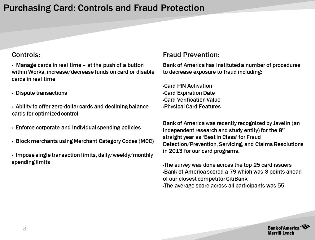 Purchasing Card: Controls and Fraud Protection