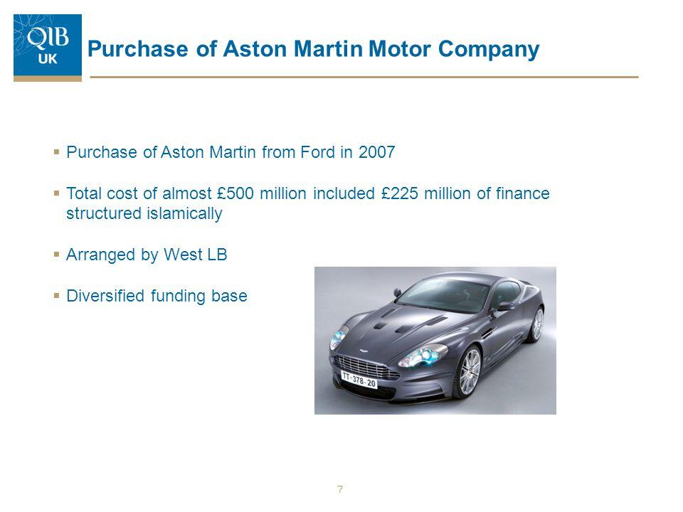 Purchase of Aston Martin Motor Company