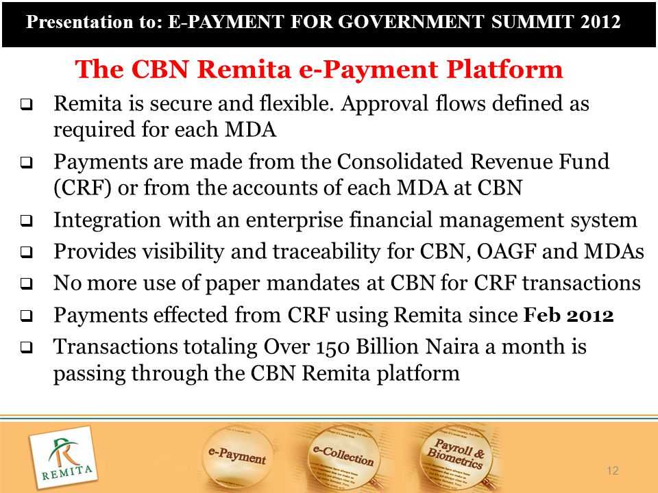 The CBN Remita e-Payment Platform