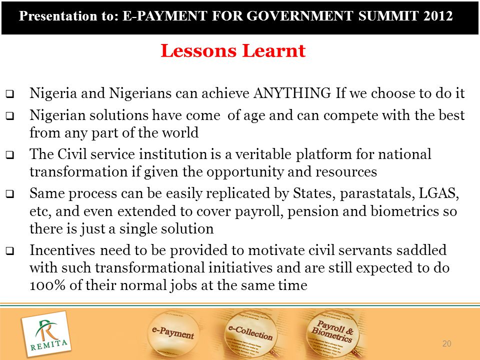 Lessons Learnt Nigeria and Nigerians can achieve ANYTHING If we choose to do it.