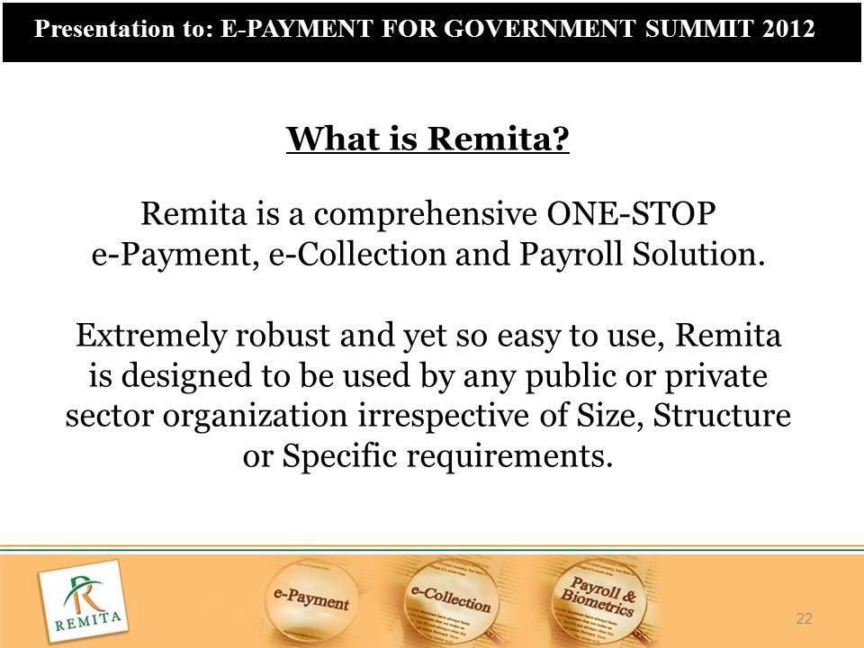 Remita is a comprehensive ONE-STOP