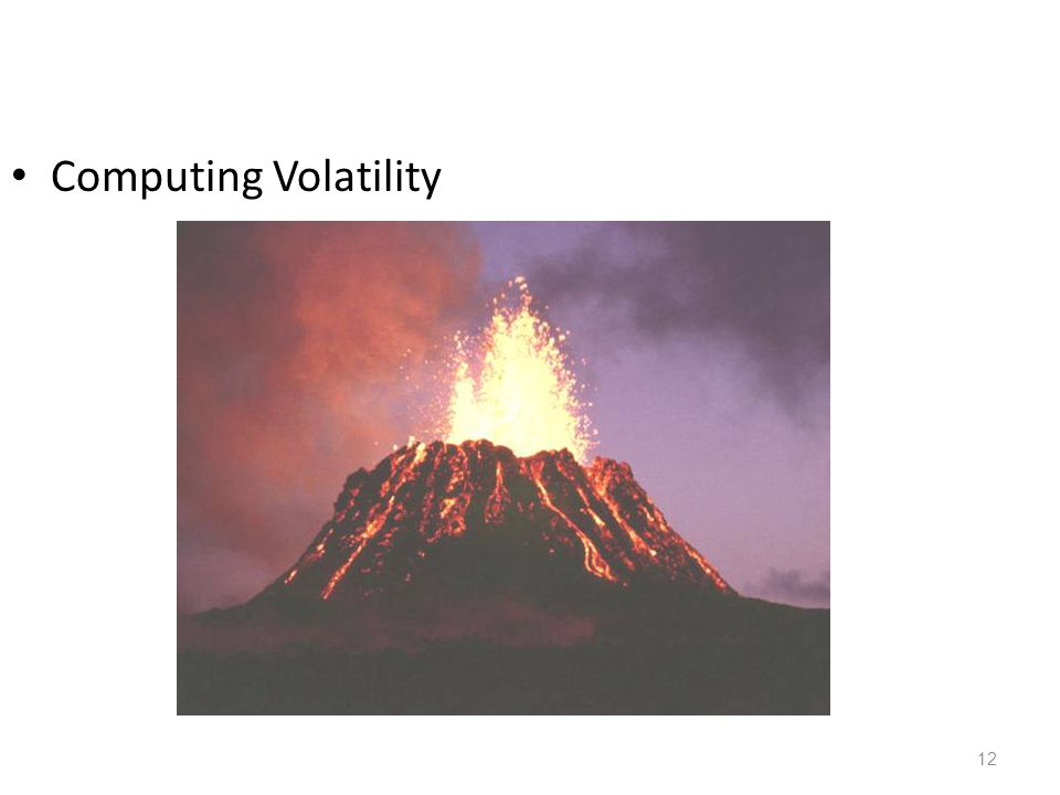 Computing Volatility
