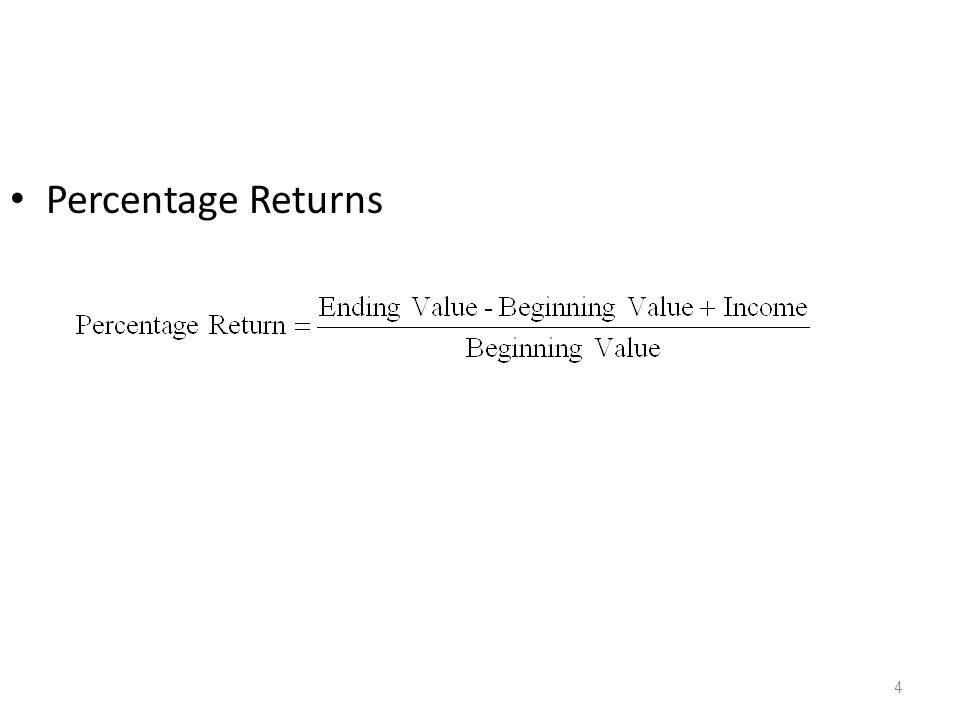 Percentage Returns