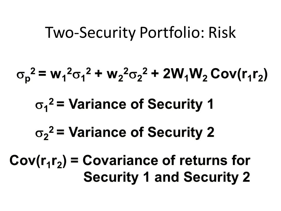 Two-Security Portfolio: Risk