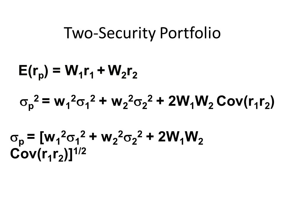 Two-Security Portfolio