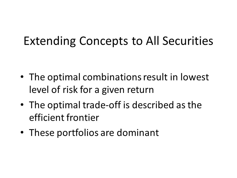 Extending Concepts to All Securities