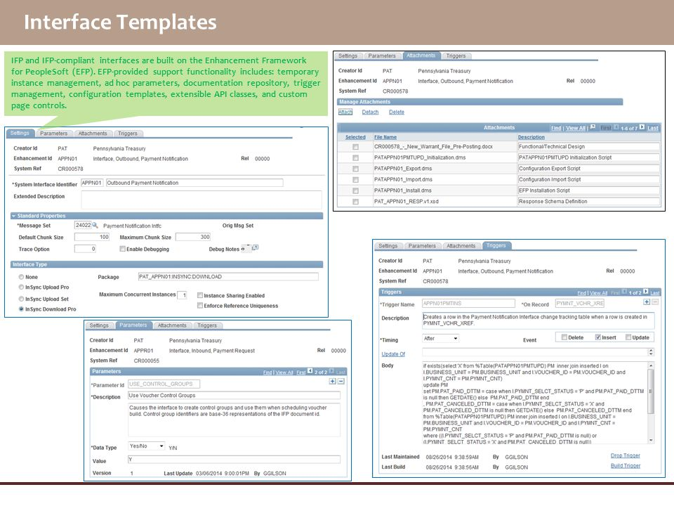 Interface Templates