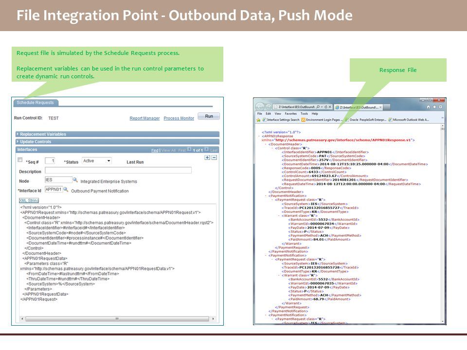 File Integration Point - Outbound Data, Push Mode