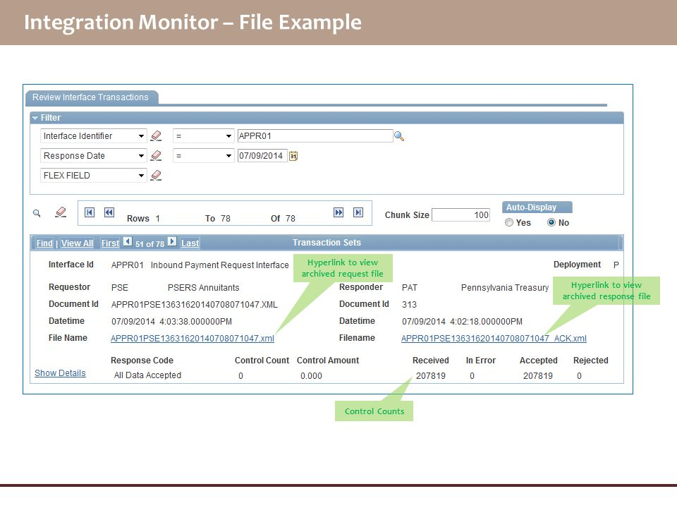 Integration Monitor – File Example