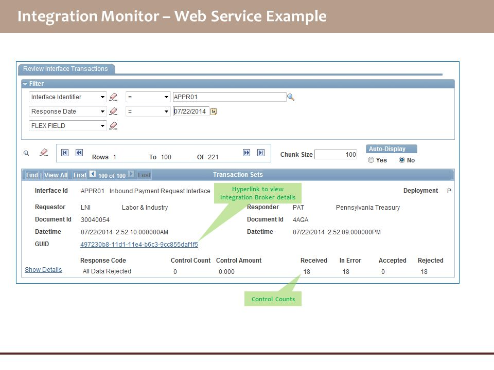 Integration Monitor – Web Service Example
