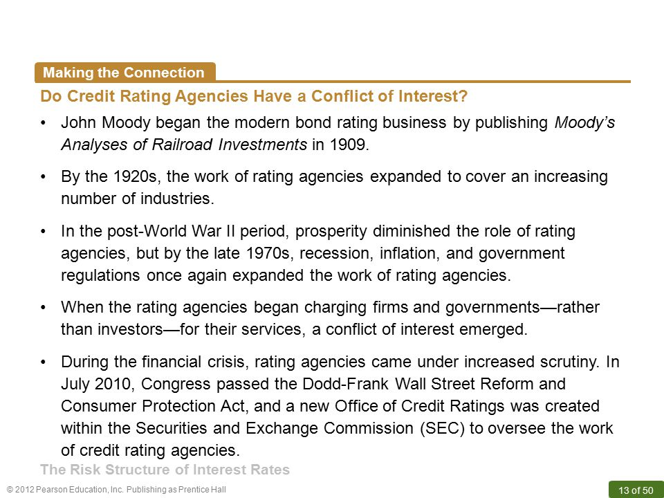 Do Credit Rating Agencies Have a Conflict of Interest