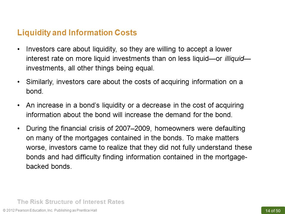 Liquidity and Information Costs