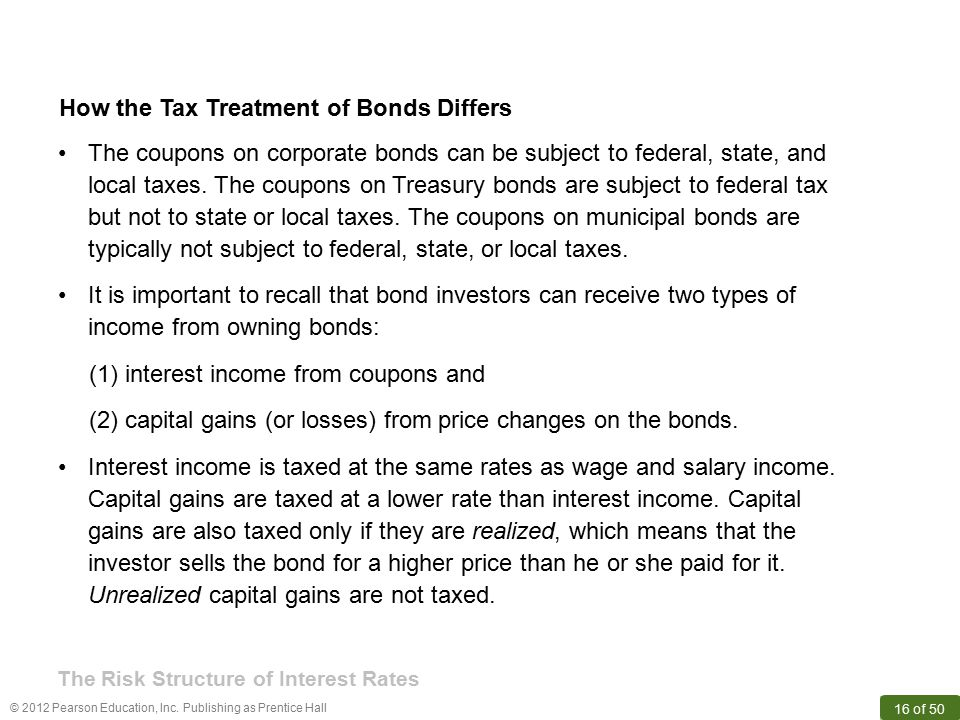 How the Tax Treatment of Bonds Differs
