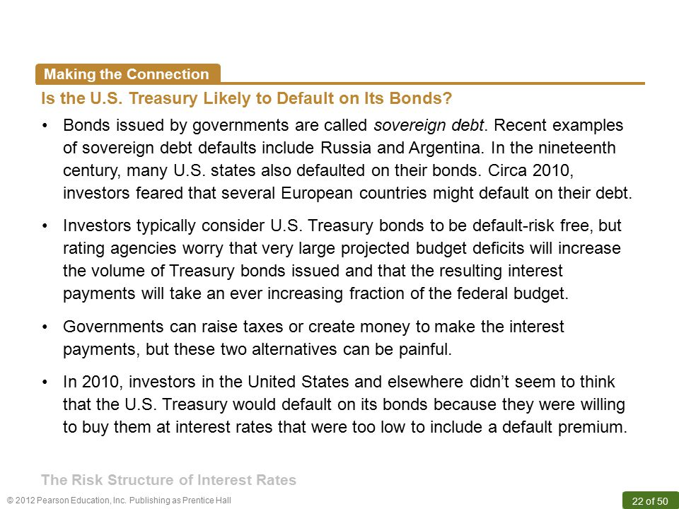 Is the U.S. Treasury Likely to Default on Its Bonds