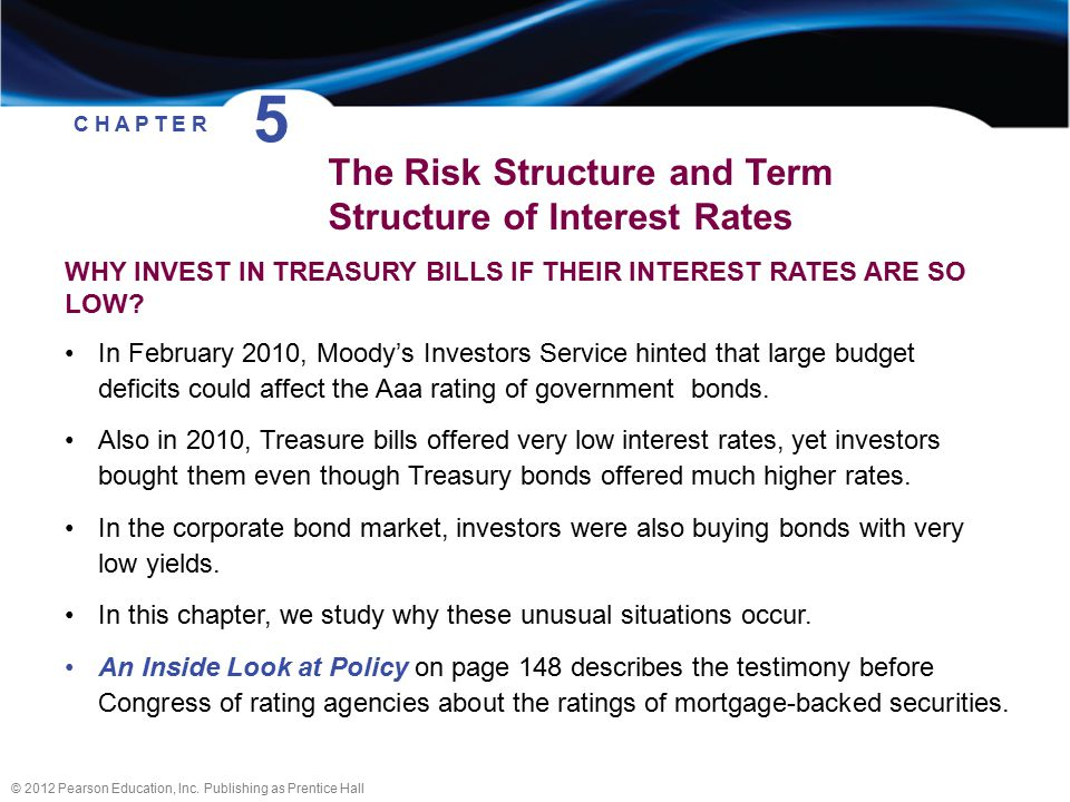 risk and term structure of interest The term structure of interest rates1 robert j shiller the term of a debt instrument with a fixed maturity date is the time until the maturity date.
