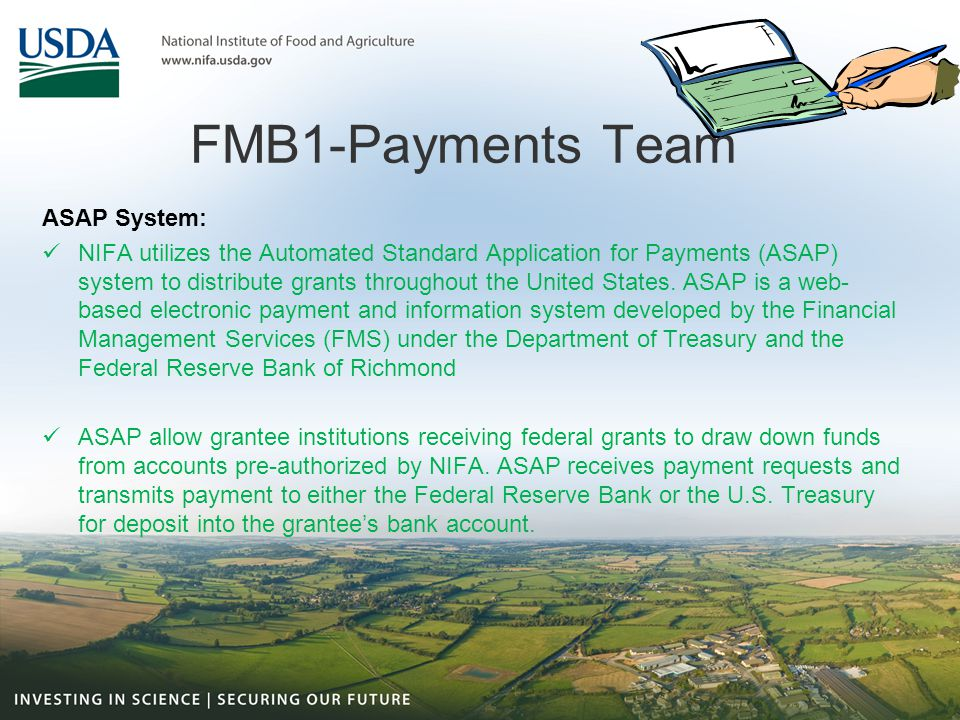 FMB1-Payments Team ASAP System: