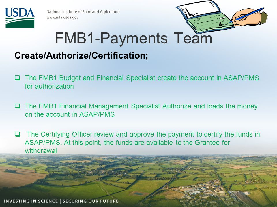FMB1-Payments Team Create/Authorize/Certification;