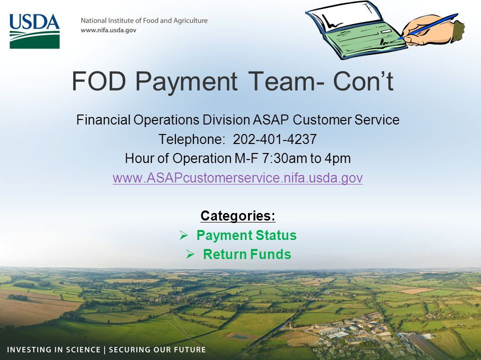 FOD Payment Team- Con't