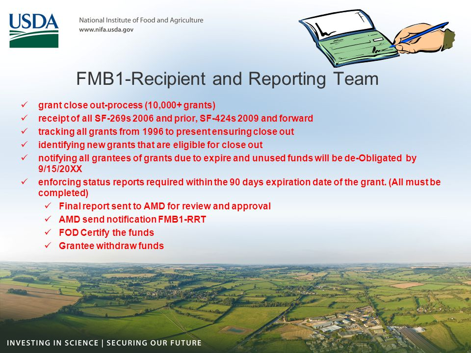 FMB1-Recipient and Reporting Team