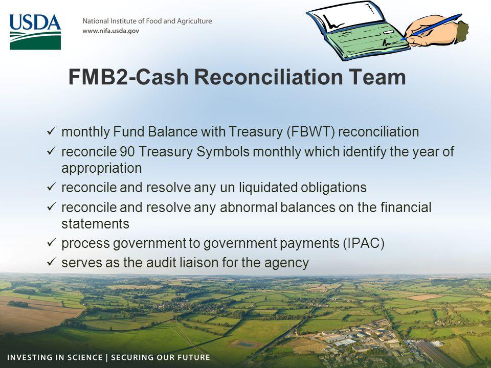 FMB2-Cash Reconciliation Team
