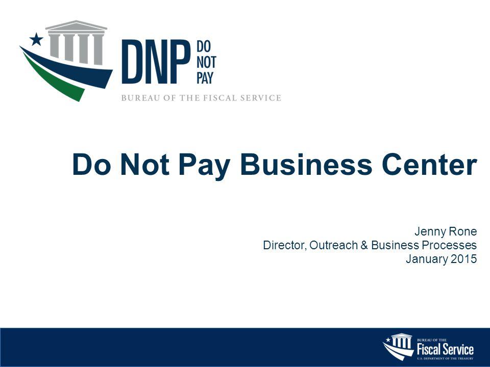 Do Not Pay Business Center