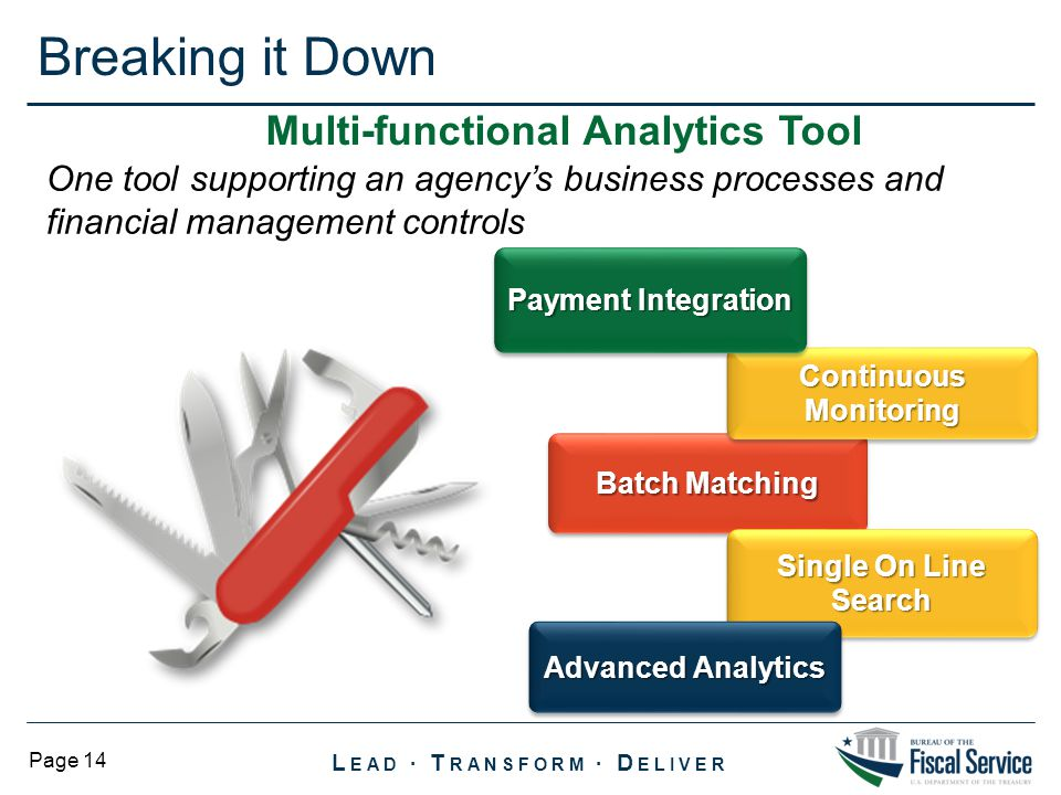 Multi-functional Analytics Tool Continuous Monitoring