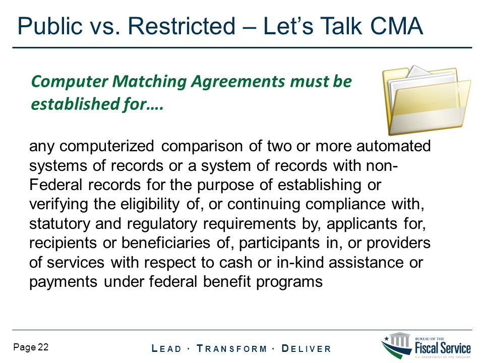 Public vs. Restricted – Let's Talk CMA