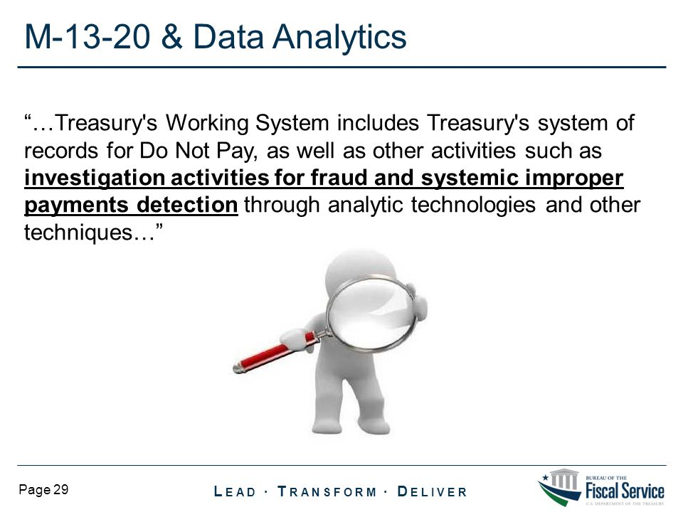 M-13-20 & Data Analytics