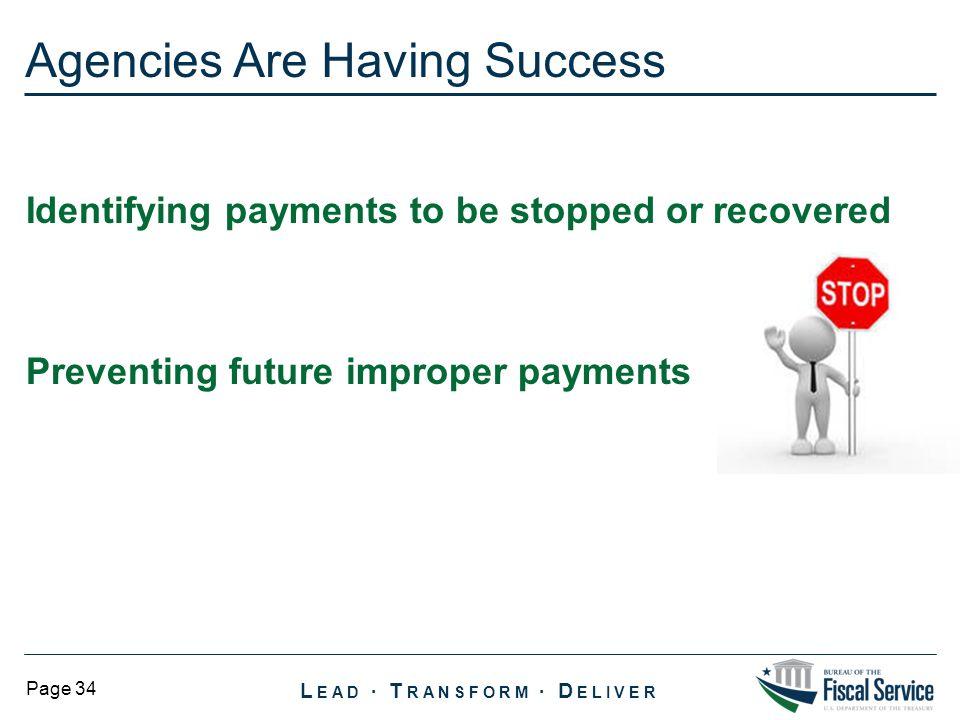 Agencies Are Having Success