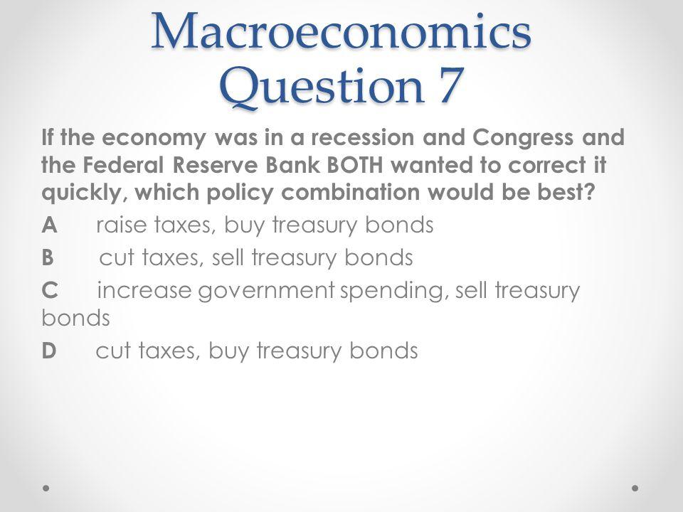 Macroeconomics Question 7