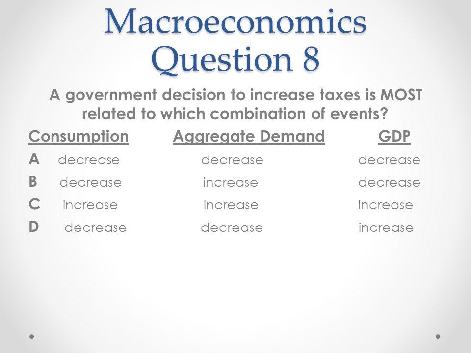 Macroeconomics Question 8