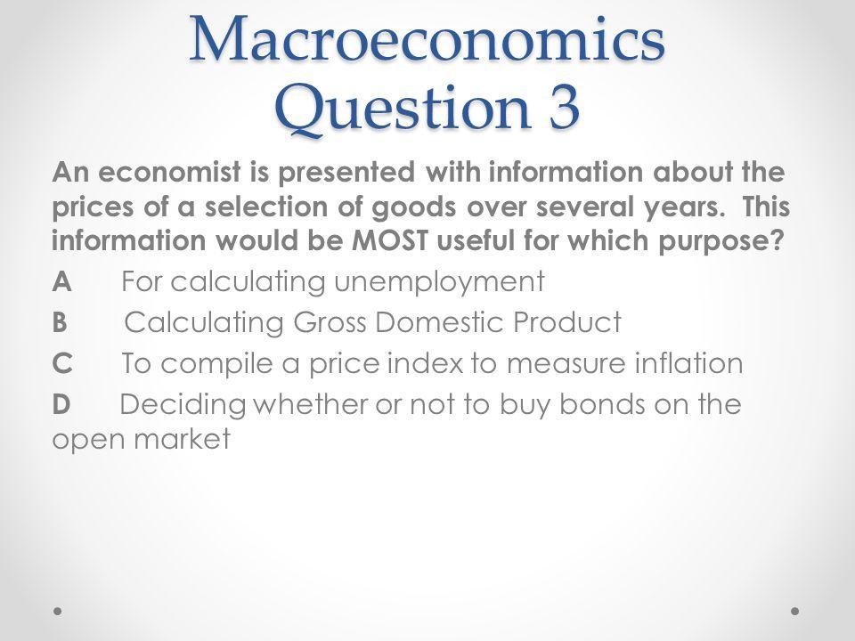 Macroeconomics Question 3