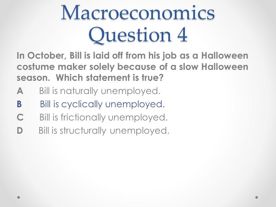 Macroeconomics Question 4
