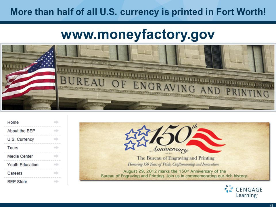 More than half of all U.S. currency is printed in Fort Worth!