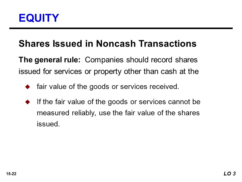 EQUITY Shares Issued in Noncash Transactions