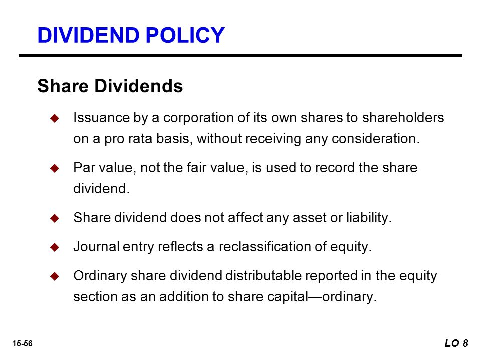 DIVIDEND POLICY Share Dividends