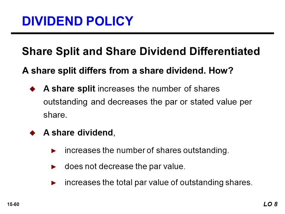DIVIDEND POLICY Share Split and Share Dividend Differentiated