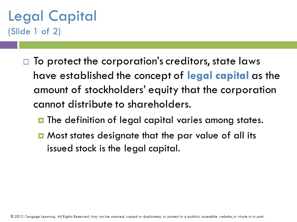 Legal Capital (Slide 1 of 2)