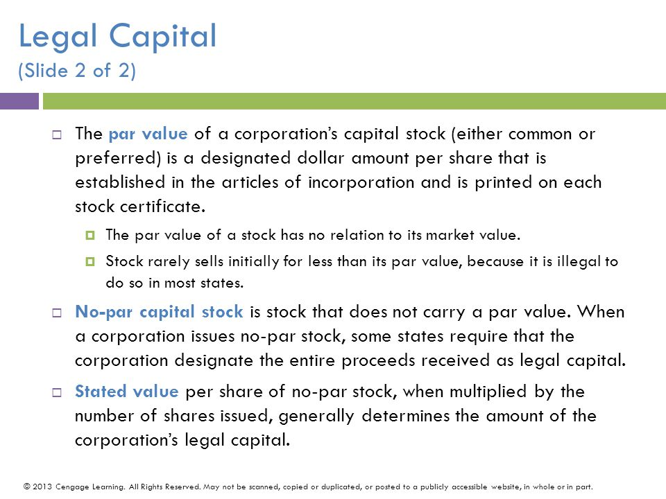 Legal Capital (Slide 2 of 2)