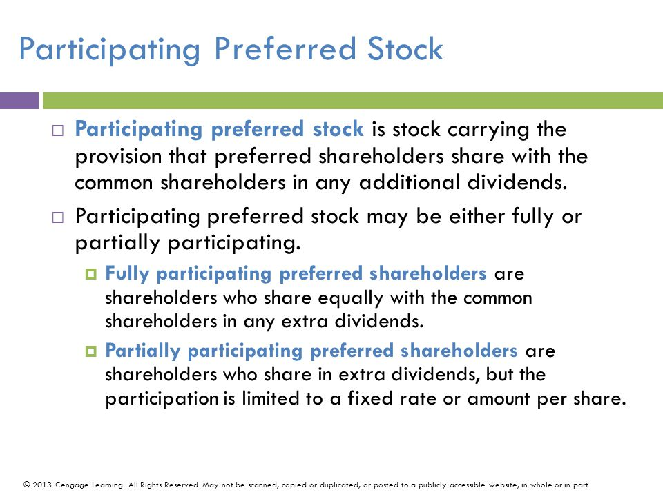 Participating Preferred Stock