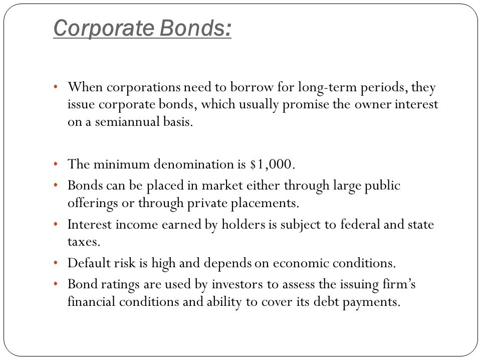 Corporate Bonds: