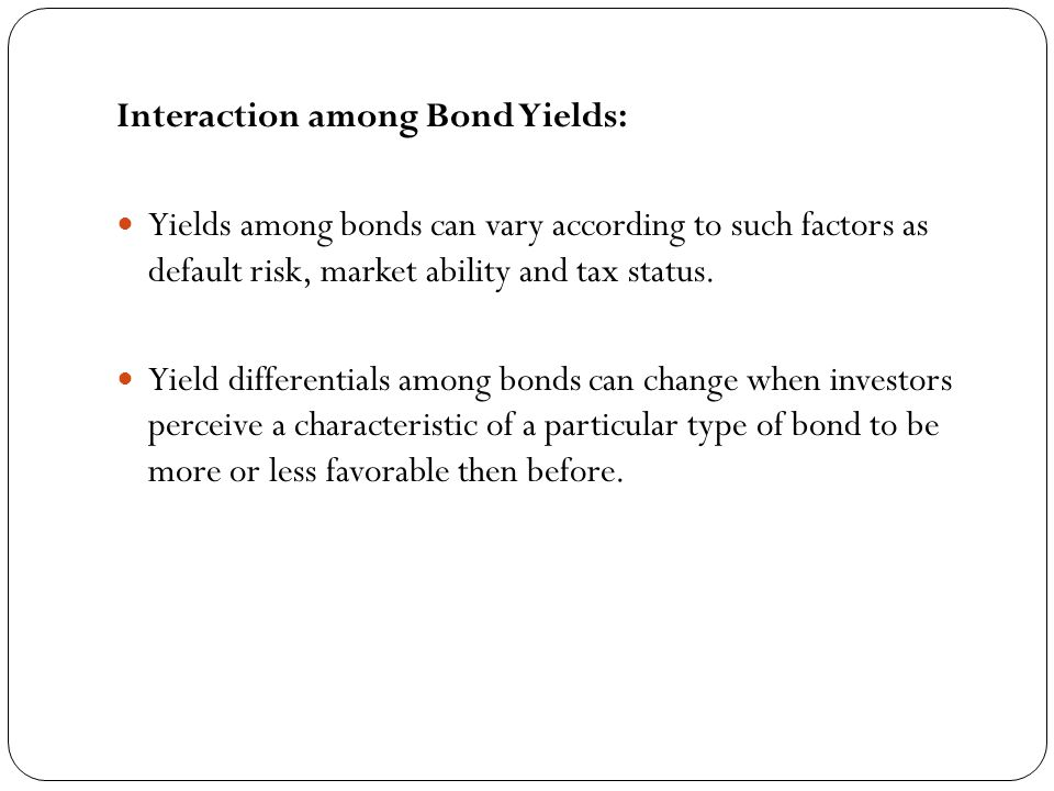 Interaction among Bond Yields: