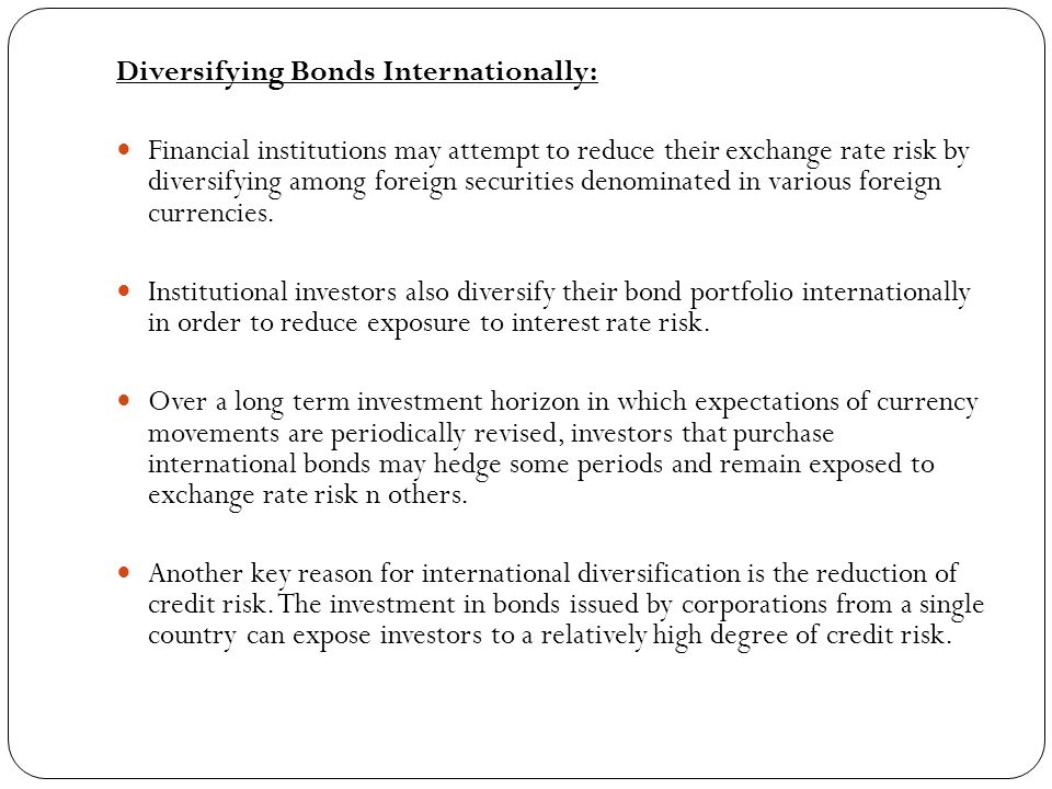 Diversifying Bonds Internationally: